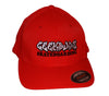Geek Buds Official Flexfit brand Skateboarding Hat-Red - GeekBuds LLC
