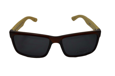Brown Square Handmade Bamboo Sunglasses - GeekBuds LLC