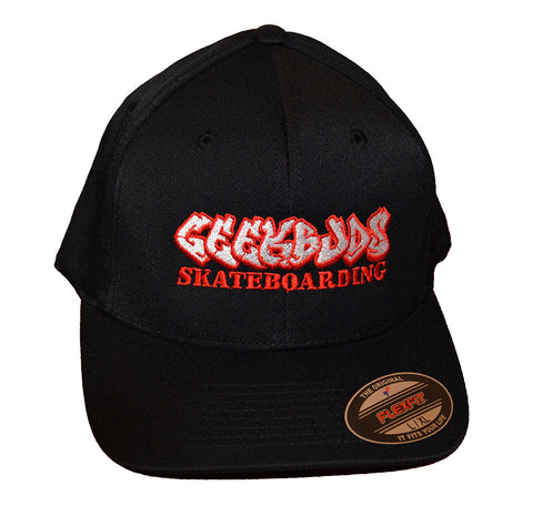 Geek Buds Official Flexfit brand Skateboarding Hat-Black - GeekBuds LLC