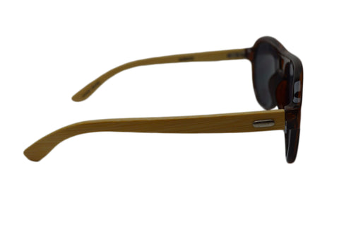 Brown Aviator Handmade Bamboo Sunglasses - GeekBuds LLC