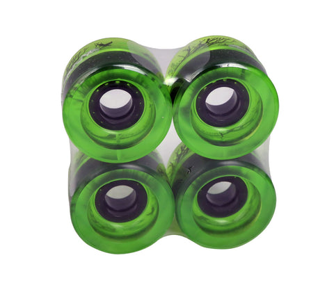 Zaza brand Clear Lime Green Cruiser Series 70mm 78a Skateboard Wheels