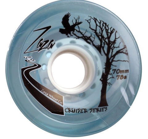 Zaza brand Clear Light Blue Cruiser Series  70mm 78a Skateboard Wheels