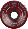 Zaza brand Clear Red Cruiser Series 76mm 78a Skateboard Wheels