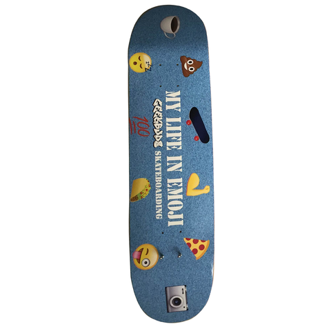 GeekBuds Signature Series My Life in Emoji Skateboard Deck