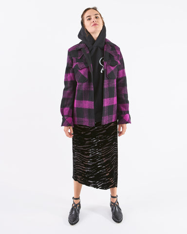 Aries Checked Shirt Jacket
