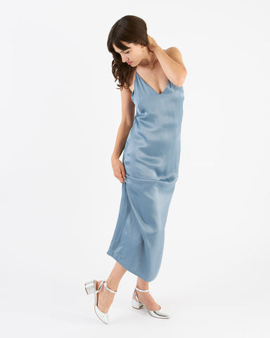 Won Hundred - selina dress SS17 - dust blue