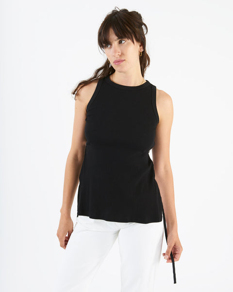 Aries - tab vest - black