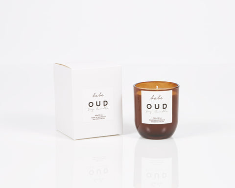 "Babe ""Oud"" Luxury Soy Candle"