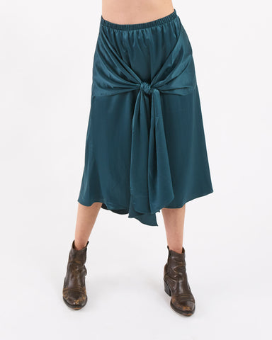 ACHRO - bow front satin skirt
