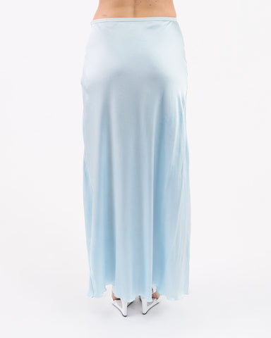 Vivien Ramsay - graze long bias skirt - sky