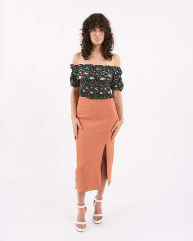Won Hundred - kikki skirt - rusty red