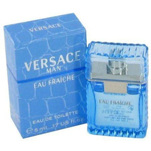 VERSACE MAN EAU FRAICHE Cologne for Men by Gianni Versace EDT .17 OZ MINI SPLASH ON