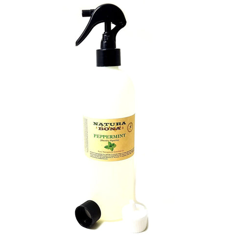 16oz Peppermint Oil Bulk; Organic Peppermint Essential Oil. Pure & Undiluted; Proven to Naturally Repel Ants, Spiders, Mice, Mosquitoes, etc. (16 oz Trigger Spray / Flip Top Pourer)