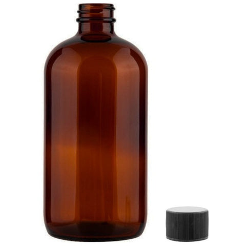 Amber Glass Essential Oil Bottles with Black Cap, 3 Pcs