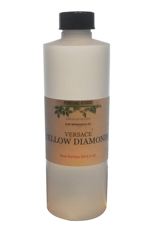 Yellow Diamonds Pure Perfume Oil Impression, 8.2 oz Bulk Size Bottle