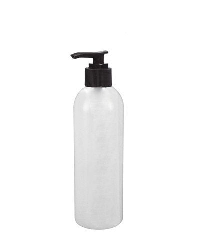 Perfume Studio 16oz Plastic Pump Bottle Pack of 6 Durable HDPE Natural Plastic Pump Dispenser Bottles with a 24/410 Neck Size. Ideal Plastic Bottles for Liquids; Shampoo, Soaps, Oils (Black Pump)
