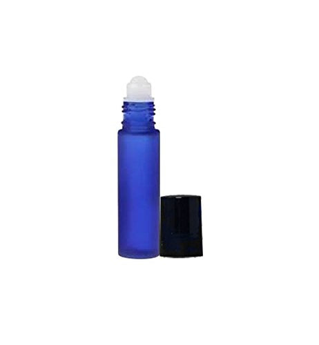 Perfume Studio Roller Bottles For Essential Oils (5, Frosted Cobalt Plastic Ball)
