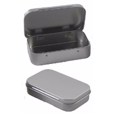 "5 Tin Rectangular 3.9"" By 2.45"" Hinged"