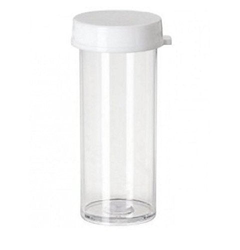 Cafe Cubano Plastic Vials with Caps: Pill Bottle Containers with Snap Lids, 3 Dram for Storing Pills, Crafts, Beads, Seeds and other Small Items (10)