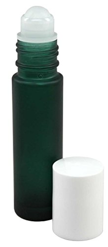 Perfume Studio Essential Oils Roll-On Frosted Green Glass Bottles, 10 ml (10 Units)