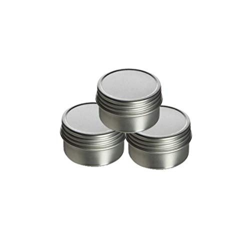 0.5 oz Tin Container - Screw Top Tin with Sealed Cover. Use for Storing Small Food Items, Condiments, Spices and More (3.5 Oz)