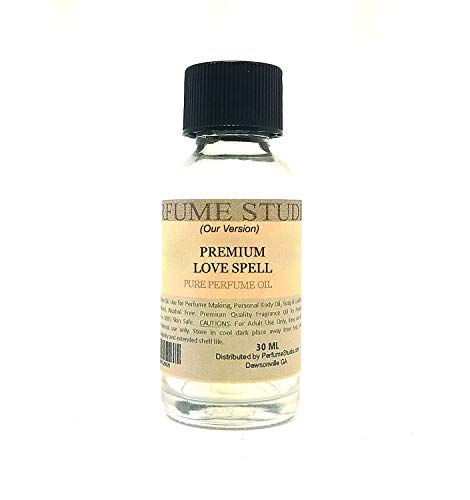 Fragrance Oil for Candle, Soap & Perfume Making, Diffusers, Lotions, Bath Bombs, Aroma Beads, Skin. Top Quality Undiluted; Splash-On Glass Bottle. Our Version Of Premium: (1oz, Love Spell Type)