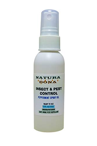 Natura Bona Peppermint Spray for Roaches, Rodents, Mice, Spiders, Ants, Wasps and Many Other Bugs. Natural Non-Toxic Pest Control for Indoor & Outdoor Use. Diluted and Ready to Use Oil (2oz Spray)