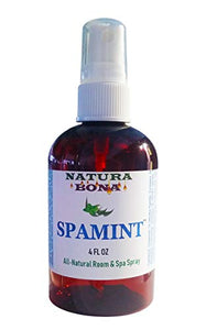 Natura Bona Peppermint Eucalyptus Spearmint Spray; Spamint Helps with Relaxing, Massages, Deodorizing & Breathing. Helps with Eliminating Bad Odors, Freshening Room & Linen (4oz, Mist Spray Bottle)