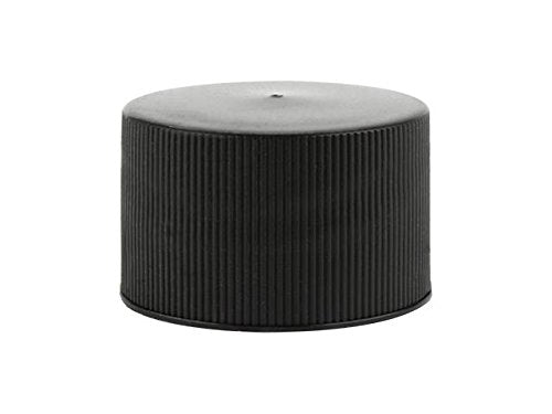 24/410 Bottle Caps – Pack of 24 Threaded Black Caps for Glass Bottles and Plastic Containers with a 24mm Neck Diameter Finish