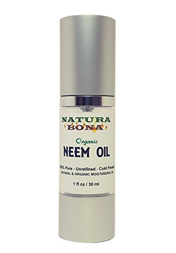 Organic Neem Oil; 100% Pure Nutrient Rich Oil For Skin, Nails & Hair. Use Neem Oil for Stretch Marks, Restore Skin Elasticity, Fade Fine Lines, Acne, Moisturize Hair & Scalp (1oz Neem Oil)