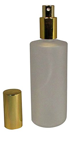 4 Ounce (120 ml) Frosted Glass Empty Refillable Replacement Glass Perfume or Cologne Bottle with Spray Applicator (EB15)