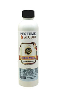 White Musk Fragrance Oil for Making Candle, Soap, Lotion, Perfume, Cologne, Incense, Bath Bomb, Diffusers, Plug in Refills, Oil Burners. Premium Quality Undiluted Pure Perfume Oil (White Musk 4oz)