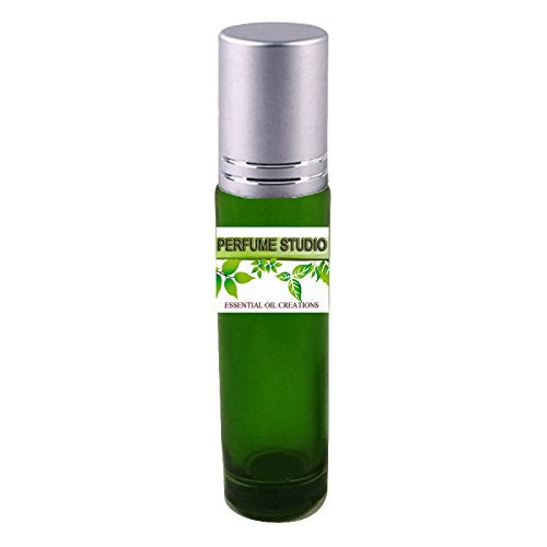 Premium Parfum Oil Blend: Similar to *Silver Mountain Water - 100% Pure Perfume Oil, Alcohol Free in a 10ml Green Glass Roller Bottle with Metal Ball and Silver Cap (Perfume Studio Oil Blend CF-107)