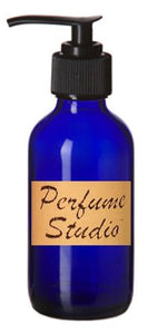Perfume Studio0153; Empty Cobalt Blue Boston Round Glass 4 Oz Bottle with Dispenser Pump Top (Set of 2 Pcs) - Use for Lotions, Soaps, Oils and Other Homemade Liquids
