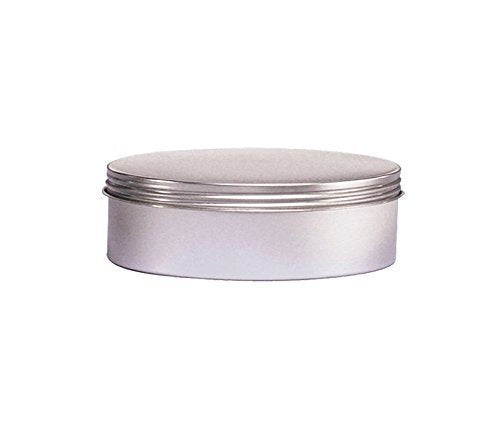 Perfume Studio Food Grade 8oz Screw Top Tin, Shallow and Round with a Thread Cap Tight Seal