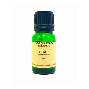 Lime Essential Oil 100% Pure Natural Therapeutic Grade; 10ml UV Protected Green Glass Euro Dropper Bottle. (Lime)