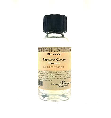 Fragrance Oil for Candle, Soap & Perfume Making, Diffusers, Lotions, Bath Bombs, Aroma Beads, Skin. Premium Quality Undiluted; Splash-On Glass Bottle. Our Version Of: (1oz, Japanese Cherry Blossom)