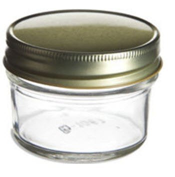4oz Tapered Glass Mason Jar with Tin Unlined Lid (1 Unit)