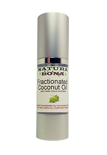 Natura Bona Fractionated Coconut Oil 1oz - Ultra Hydrating Massage & Aromatherapy. A Must-Have Skin Nourishing Oil. (1oz Coconut Oil)