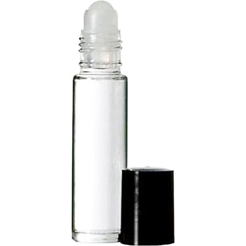 Perfume Studio Roll On Bottles Set - Clear Glass Bottles 10 ml (5, Clear Glass Plastic Ball)