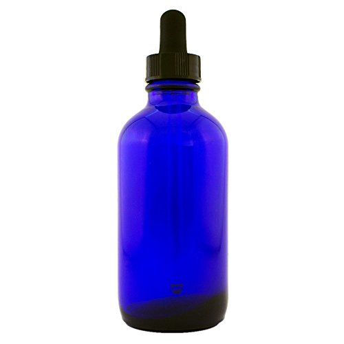 Cobalt Blue Glass Bottle 4oz with Glass Dropper