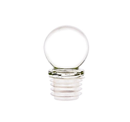 Perfume Studio Lead Free Globe Glass Stopper with an Air/Liquid Tight 18mm Closure. Ideal for Wine Bottles, Decanters, Apothecary Containers, Perfume Bottles, Oil Bottles, Essential Oil Bottles (12)