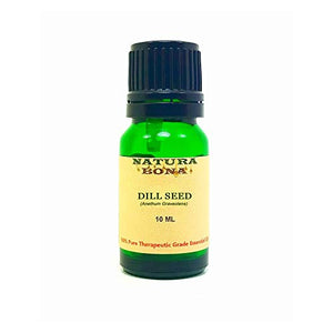 Dill Seed Essential Oil - 100% Pure Organic Therapeutic Grade; 10ml UV Protected Green Glass Euro Dropper Bottle. (Dill)
