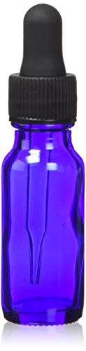Cobalt Blue Dropper Bottles 1/2 Oz - 12 Per Package