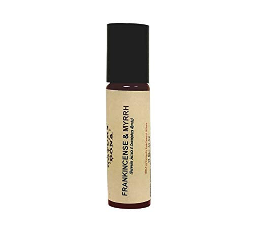 Natura Bona Frankincense and Myrrh Essential Oil Blend; 100% Pure Therapeutic Grade Synergistic Blend (10ml Roller Bottle)