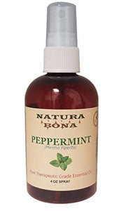 Natura Bona 100% Pure Natural Peppermint Spray Oil Use to Naturally Repel Ants, Mice. Spiders, Roaches and Other Insects; 4oz Amber Plastic Bottle