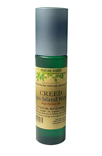 IMPRESSION Fragrance Similar to Creed Virgin Island - 100% Pure, Premium Quality Alcohol Free in a 10ml Green Glass Roller Bottle with Metal Ball (Perfume Studio Oil Blend CF-109)