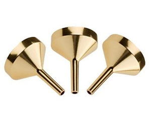 Perfume Funnel Set - 3 Piecs, Gold Metal Small Funnel (Top Quality) for Refilling Empty Perfume Bottles and Atomizers