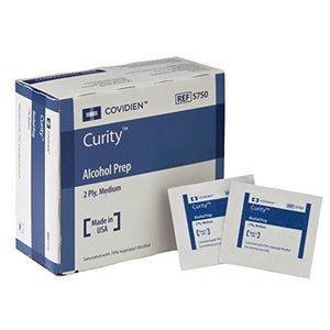 Covidien 5750 Curity Alcohol Prep, Sterile, Medium, 2-ply (Pack of 200)