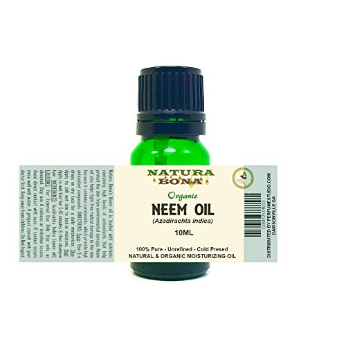 Organic Neem Oil - 100% Pure Nutrient Rich Oil for Skin, Nails & Hair. Helps with Stretch Marks, Restore Skin Elasticity, Fade Fine Lines, Moisturize Hair & Scalp (NEEM)